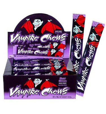 Grape Vampire Sour Chews 18gm x 60