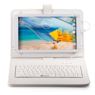 """10.1"""" iRULU Tablet PC Android 5.1 Octa Core 16GB HDMI WIFI GMS w/White Keyboard"""