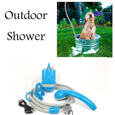 Outdoor Portable Shower Camping Rechargeable Battery Water Pump Hiking Travel