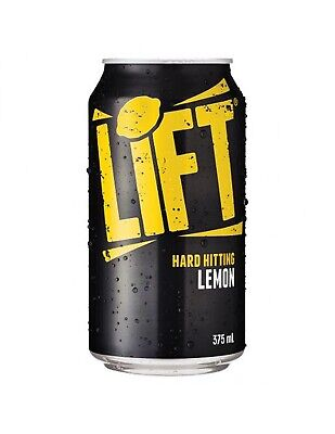 Lift Hard Hitting Lemon Soft Drink 375ml x 24