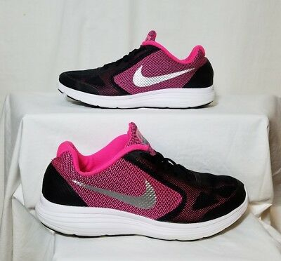 NIKE REVOLUTION 3 Girls/Youth Pink Black Athletic/Casual Shoes Size 5.5Y