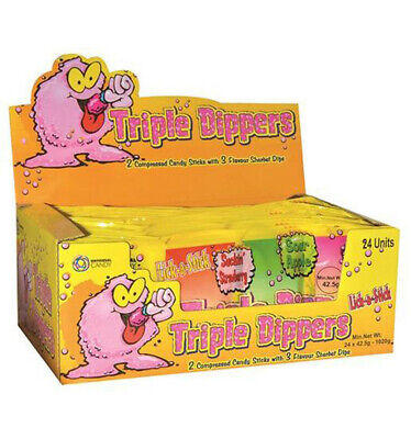 Universal Candy Triple Dippers Sherbet 42.5gm x 24