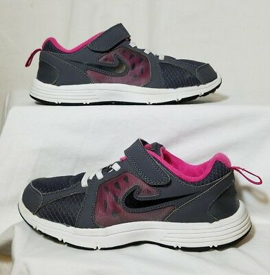 NIKE FUSION RUN Girls/Youth Gray Pink Athletic/Casual Shoes Size 2.5Y