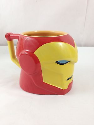 Iron Man Disney Coffee Cup Mug Tony Stark Red Marvel Ceramic Red Yellow