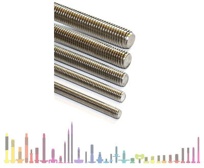 M2.5, M3, M4, M5, M6, M8, M10 mm AllThread Stainless Steel Fully Threaded Stud