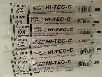 Pilot Hi-Tec-c Gel Pen Refill 0.4mm (6 black)