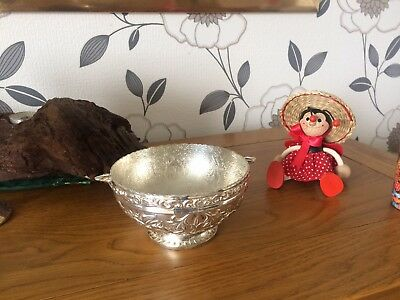 Solid Silver Plated Quaich