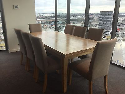 Rustic Extension Dining Table With 10 Chairs