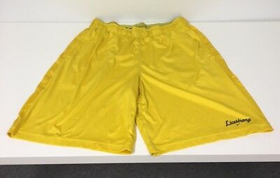 Nike Livestrong Dri Fit Shorts Men's Large Cycling Yellow Lance Armstrong
