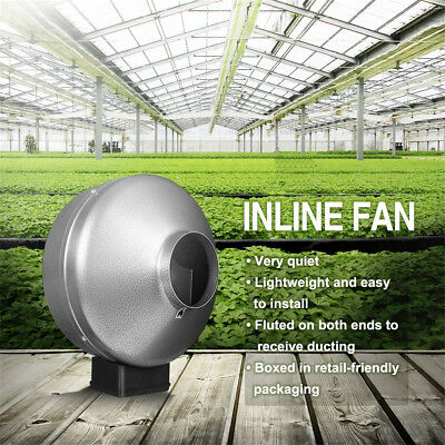 "12"" Inline Duct Booster Fan Hydroponic Blower Heat Air Condition Vent Exhaust OZ"