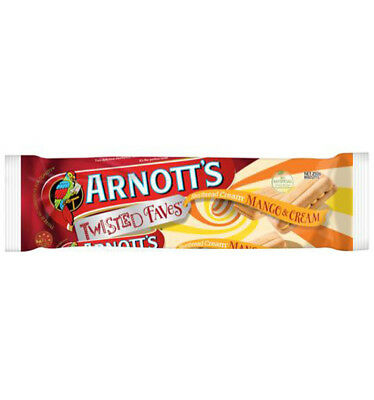 Arnotts Mango & Cream Shortbread Biscuits 250gm x 20