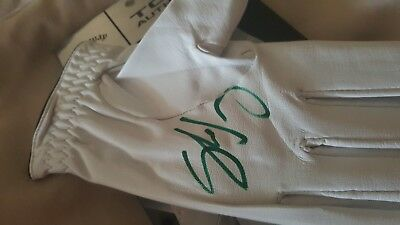 signed golf glove