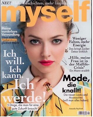 MYSELF Frauenmagazin Ausgabe September 9/2017 Cover AMANDA SEYFRIED