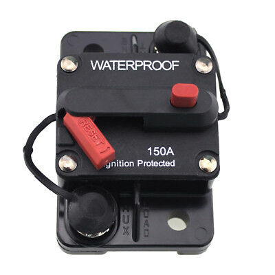 150 Amp Circuit Breaker Marine Rated Power with Manual Reset Waterproof Z5E7