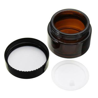 1pcs 30g 1OZ Glass Amber Facial Cream Jar Empty Cosmetic Sample 30ml Container