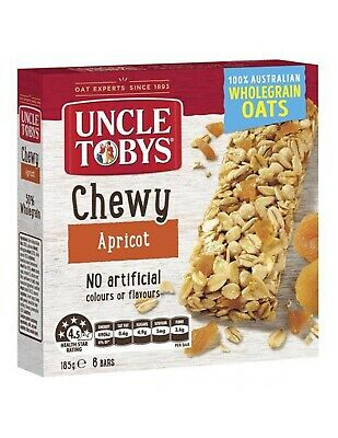 Uncle Tobys Chewy Apricot Muesli Bar 185gm