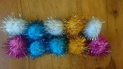 Cat/kitten Soft Play Glitter Balls X10