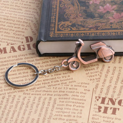 Copper Tone Motorcycle Scooter Model Keyring Keychain Key Chain Ring Pendant New