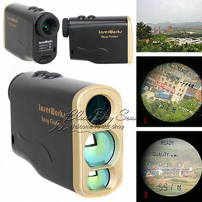 Waterproof 1000M Distance Speed Meter Laser Range Finder Fr Outdoor Hunting Golf