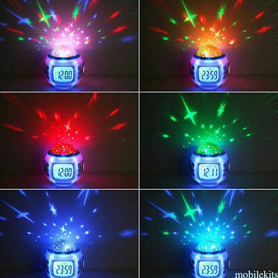 Glowing 7 Color LED Change Stress Relieve Alarm Clock Multi-Funtional Child Tool