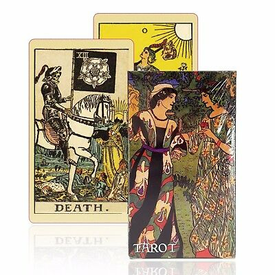 Tarot Cards Deck Rider Set Vintage English version old-fashioned color game GIFT