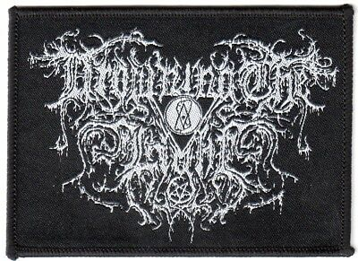 Drowning the Light - Logo Aufnäher/Patch (Satanic Warmaster.Nargaroth,Horna)