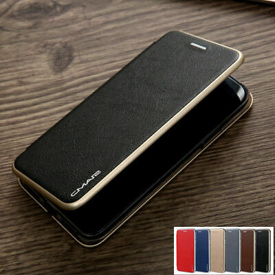iPhone X 8 7 6 S Plus Magnetic Flip Leather Wallet Card Slim Rubber Case Cover