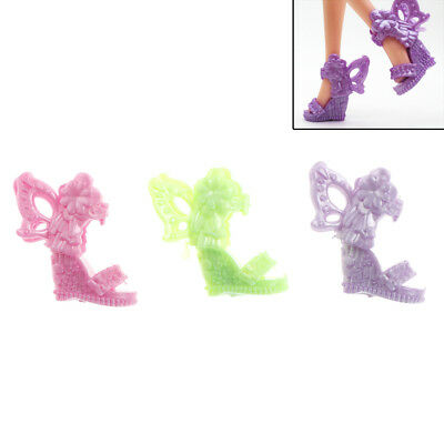 8 Pairs Barbie Shoes Butterfly Wings Design Doll Shoes Barbie Dolls  P&T