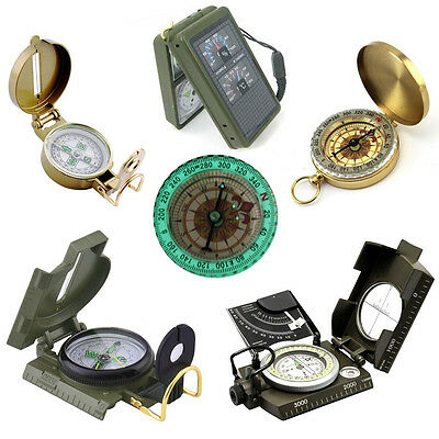 Camping Hiking Outdoor Survival Travel Pocket Compass Military Army Navigation
