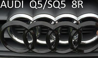 front audi ringe a4 b9 blacked out emblem badge cover. Black Bedroom Furniture Sets. Home Design Ideas