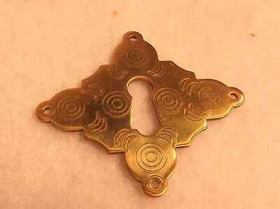 Set of Four Large  Cast Brass Keyhole Covers