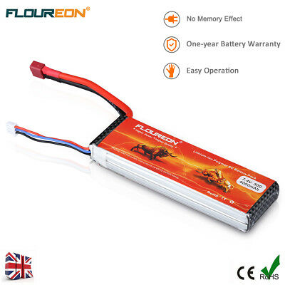 2S 7.4V 30C 4000mAh LiPo Battery Deans for RC Car Helicopter Airplane Truck UK