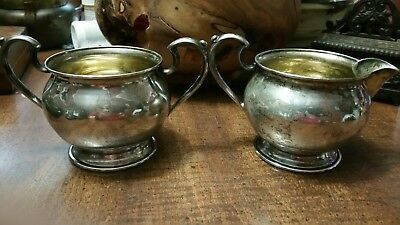 Sterling Silver creamer and sugar bowl set