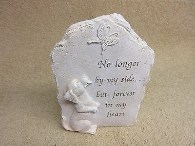 Dog Pup Puppy Memorial Resin Plaque Graveside Ornament Indoor or Outdoor Use