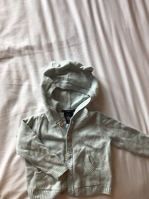 Cashmere Baby Boy Hoody With Ears 3-6