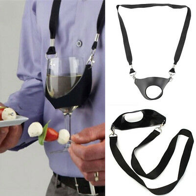 Portable Wine Sling Yoke Glass Holder Support Strap for Birthday Party Gift New