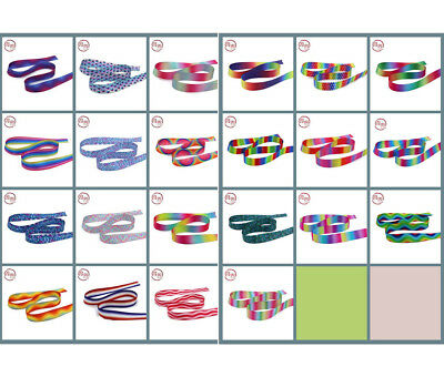 """Double-sided Rainbow gradient Grosgrain Ribbons lots Bows 7/8"""" 22mm 1-5-10 Yards"""