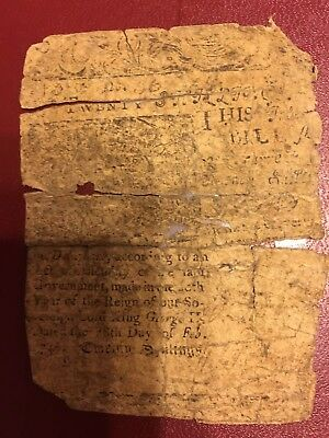 RARE 15s + 20s DELAWARE COLONIAL CURRENCY. PRINTED BY BEN FRANKLIN FEB 28, 1746