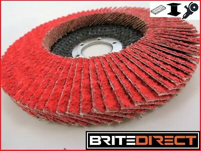 CERAMIC Flap Disc wheels 125 Steel Wood Cast Iron Sander High Quality Angle Gr