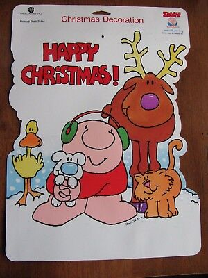"""VTG Ziggy Christmas Holiday POSTER Paper (1991) 14X10"""" NOS American Greetings"""