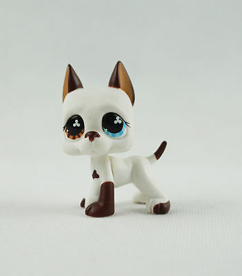 littlest pet shop LPS823 Figure white great dane dog Puppy