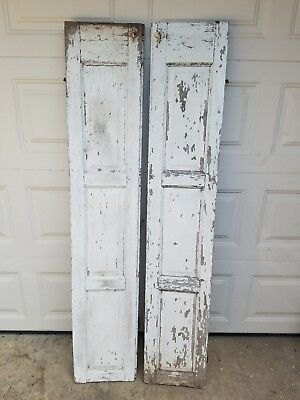 Vintage Pair Wood Shutters Farm House Architect Salvage Shabby Chic PICK UP ONLY