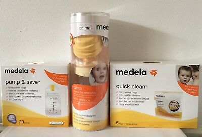 New Medela Bottle Milk, Storage Bags And Disinfecting Bags