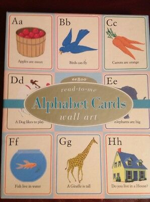 EEBOO Read-to-me Alphabet Wall Art Cards