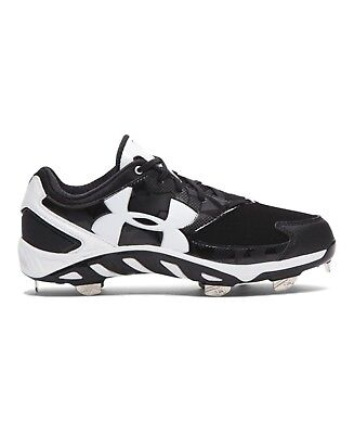 (7 B(M) US, Black/White) - Under Armour Women's UA Spine Glyde Softball Cleats
