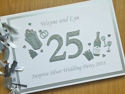 25th 40th 50th 60th ANNIVERSARY GUEST BOOK Custom designs Personalised names