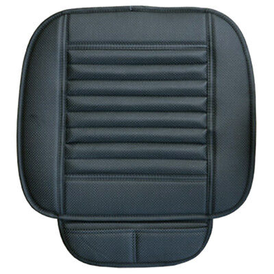 Car Bamboo Charcoal Leather Seat Cushion Breathable Therapy Chair Cover Pad V2U9