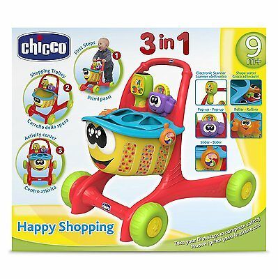 Pousseur chariot caddy Maison des formes Chicco Happy Shopping Neuf