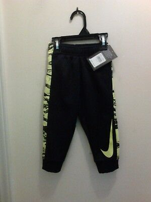 Nwt $38 Nike Toddler Boy's Therma Fit Printed Graphic Swoosh Pants Size 2T