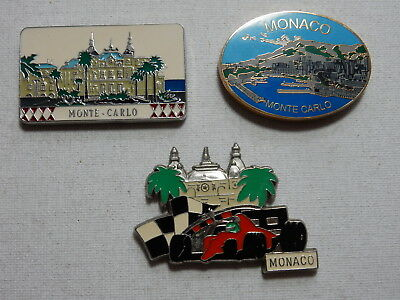One Selected Metal Souvenir Fridge Magnet from Monte Carlo Monaco